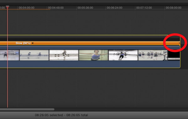 Final Cut Pro Slow Motion Adjust