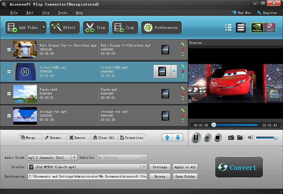 Click to view Aiseesoft Flip Converter screenshots