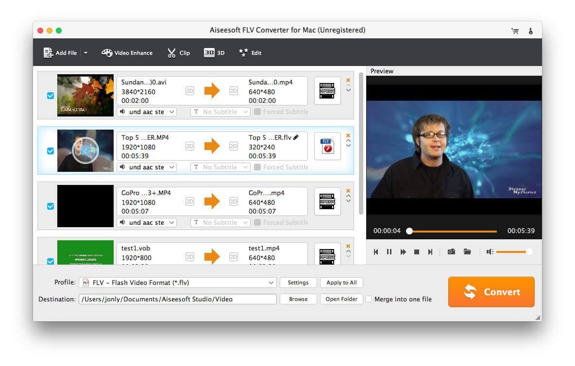 Aiseesoft FLV Converter for Mac