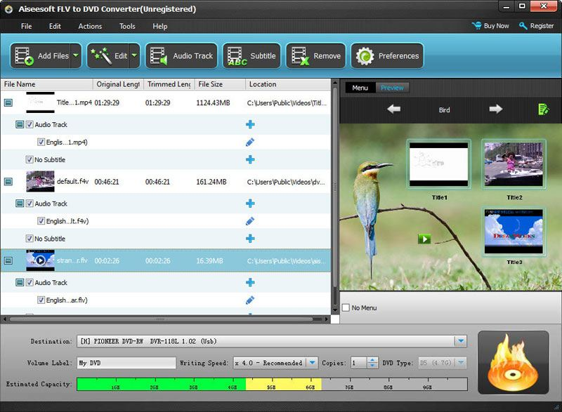 Click to view Aiseesoft FLV to DVD Converter screenshots