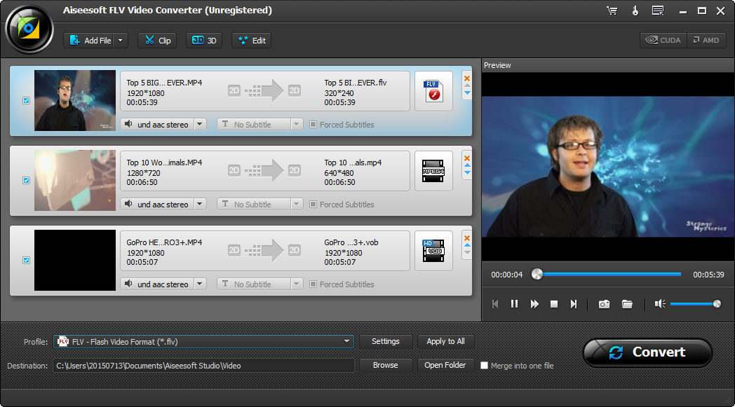 Aiseesoft FLV Video Converter Screen shot