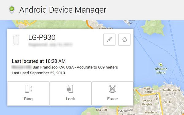Usuń LG z witryny Android Device Manager