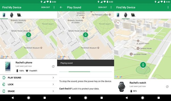 Cancella LG dall'app Gestione dispositivi Android