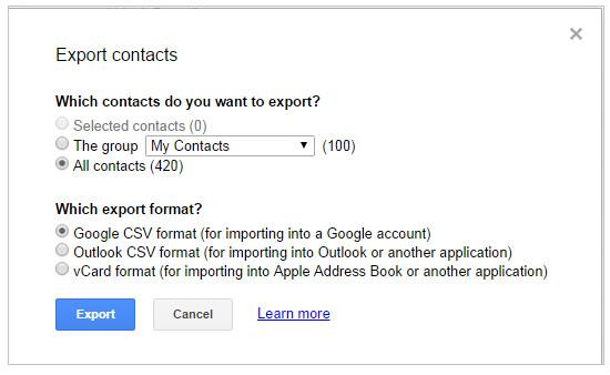 Odzyskaj usunięte kontakty z konta Google