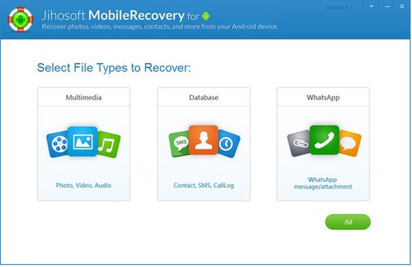 Photo recovery tool - Jihosoft Android Phone Recovery