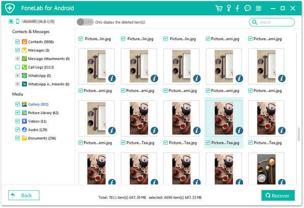 Eseguire il backup dei file Samsung Galaxy