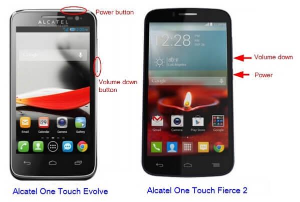 Cattura le immagini dello schermo Alcatel con i pulsanti