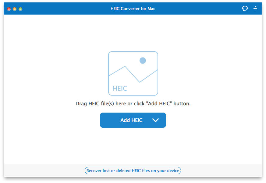 Free HEIC Converter for Mac Interface