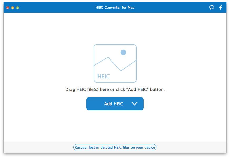 適用於Mac界面的免費HEIC轉換器