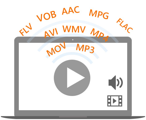 Play FLV/MP4/VOB/MOV/WMV/AVI/MPG/M4V/TS for free