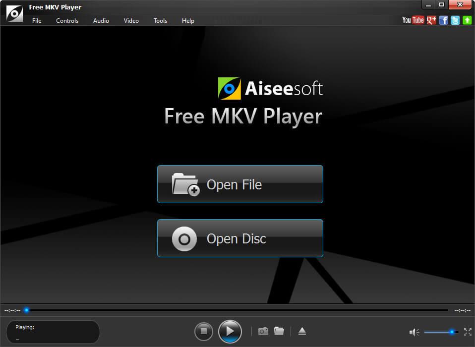 Windows 7 Aiseesoft Free MKV Player 1.0.16 full