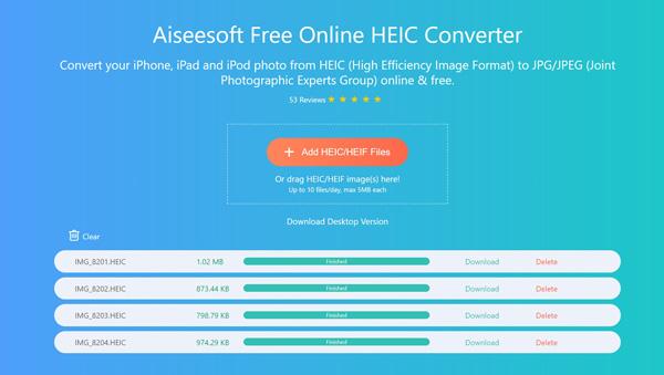 Converti immagini HEIC online