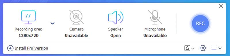 Interfaccia di Screen Recorder