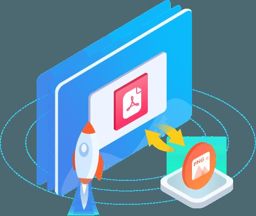 Rask PNG PDF-konvertering