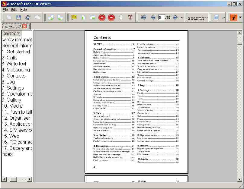 Aiseesoft Free PDF Viewer screenshot
