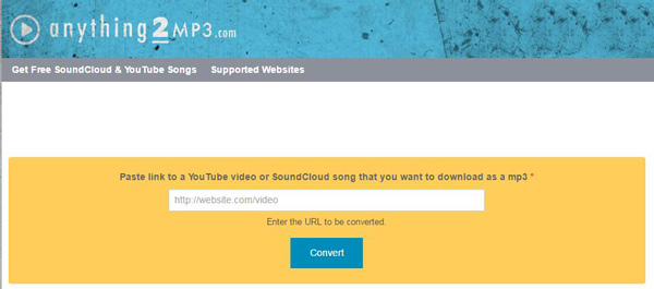 Anything2MP3 - Convert Anything to MP3 from SoundCloud/YouTube
