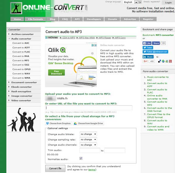 Online Audio Converter free convert audio to MP3, WAV, MP4 ...