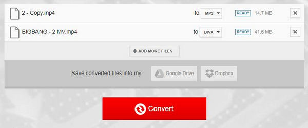 Μετατροπή MP4 σε DivX Online