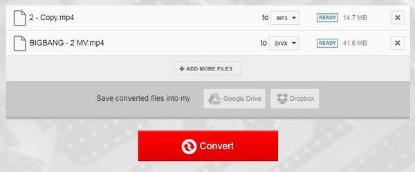 Konwertuj MP4 na DivX Online