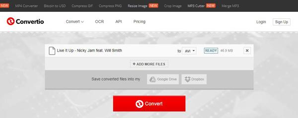 Μετατροπή MPEG2 σε AVI Online