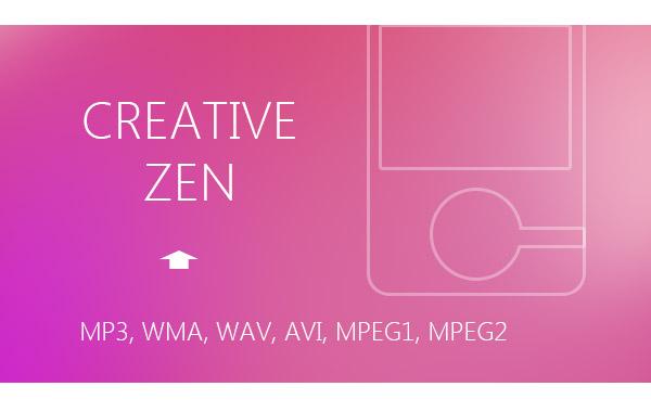 Υποστηριζόμενες μορφές Creative Zen