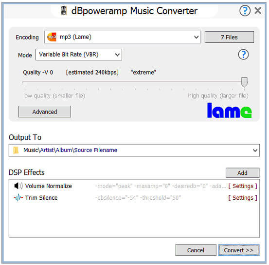 Converti YouTube in MP3 con dBpoweramp Music Converter