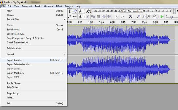 Best flac export options for audacity