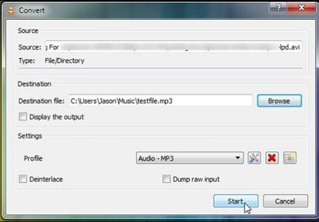 Wyodrębnij audio za pomocą VLC