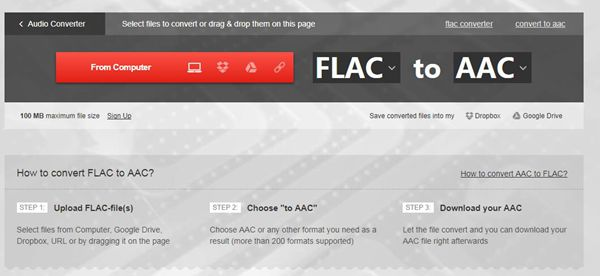 FLAC προς AAC