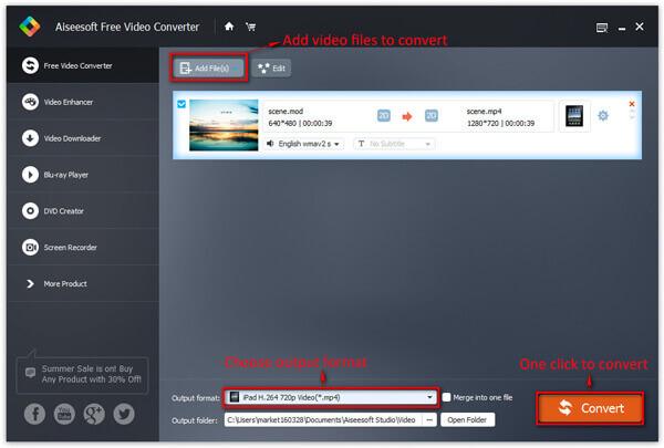 Převod videa zdarma na počítači se systémem Windows