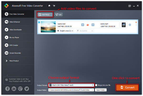 Converti video gratis su computer Windows