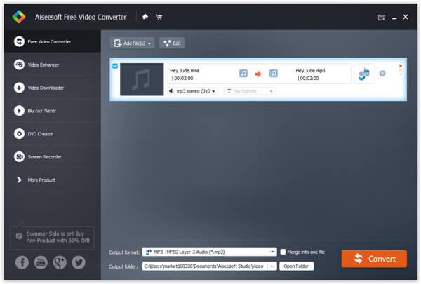 Converti M4A in MP3