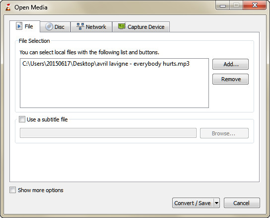 import Flac File to Vlc