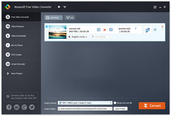 Aggiungi video VOB