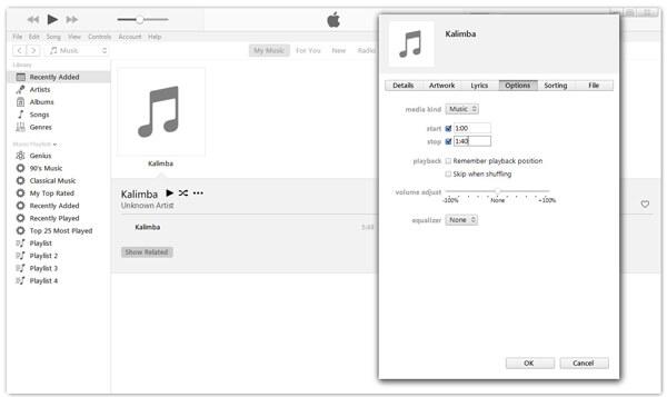 Clip Music in iTunes