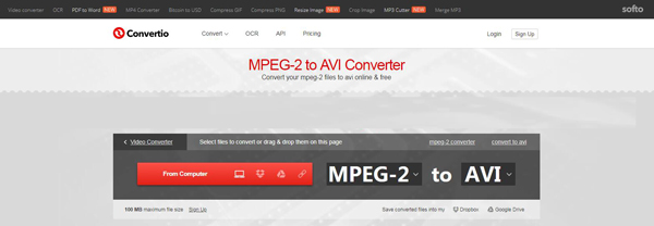 Online MPEG2 σε μετατροπέα AVI