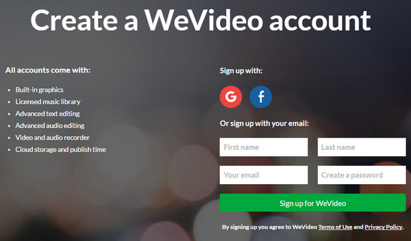Login WeVideo