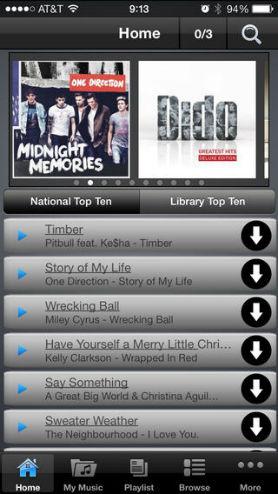 Δωρεάν εφαρμογή μουσικής για iPhone