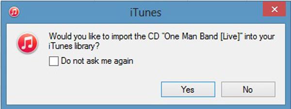 Εισαγωγή CD στο iTunes
