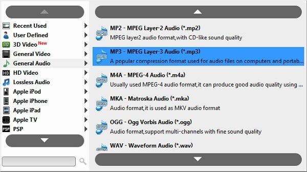 Επιλέξτε Μορφή MP3