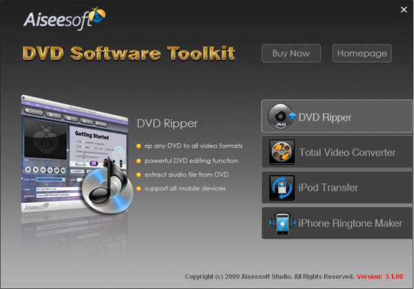 How to rip DVD, convert video, transfer iPod music and make  Dvd-software-toolkit