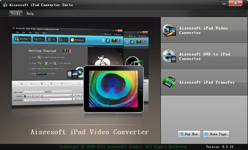 How to Rip DVD and Convert Video for Your iPad On Windows/Ma Ipad-converter-suite