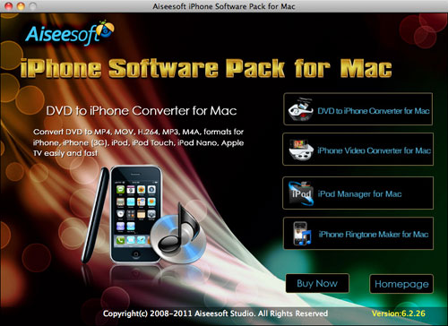 Full Solutions for Your iPhone: How to convert DVD/video, ma Iphone-software-pack-for-mac