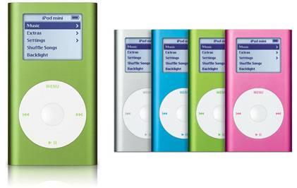 L'iPod mini di seconda generazione