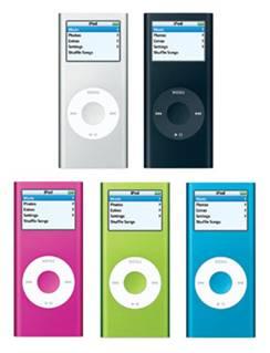 L'iPod nano di seconda generazione