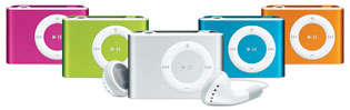 The second generation colored iPod shuffle