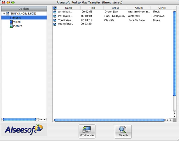 How to Backup iPod Files to PC or Mac List