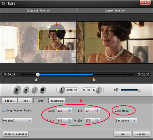 How to convert and edit HD video Crop