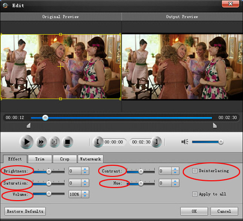 How to convert and edit HD video Effect