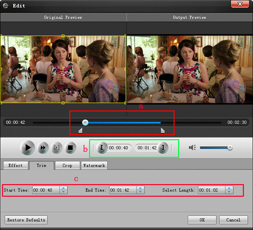 How to convert and edit HD video Trim